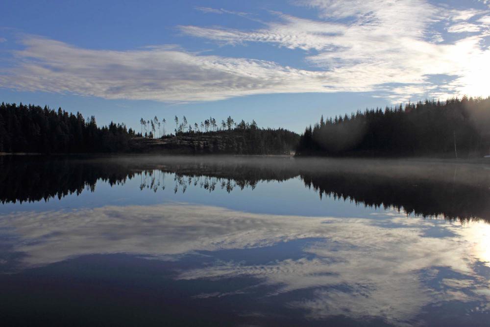 Sjön vid stugan