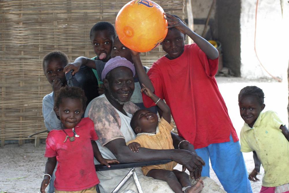 Byhövdingen i Kafountine Senegal